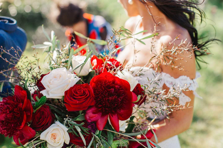 Dark red wedding bouquet Flower Gallery