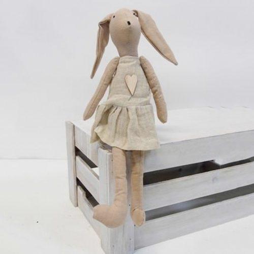 Toys Rabbit Small Girl at Flower Gallery on Waiheke Island