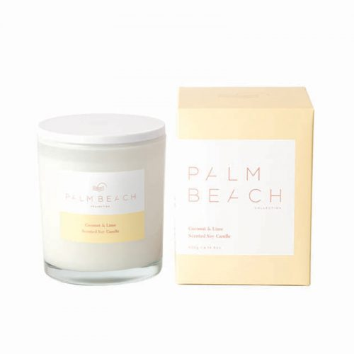 Palm Beach Coconut & Lime Candle at Flower Gallery on Waiheke Island