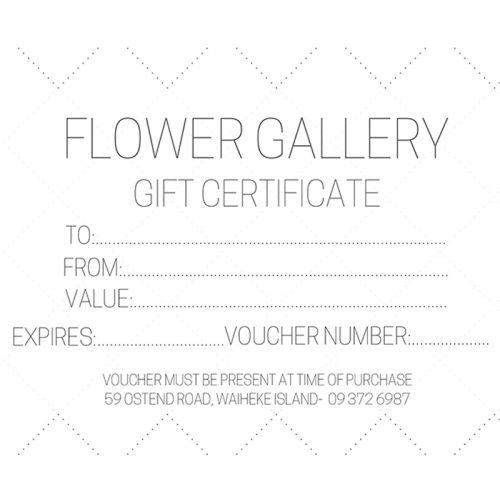 Flower Gallery Florist Gift Certificate