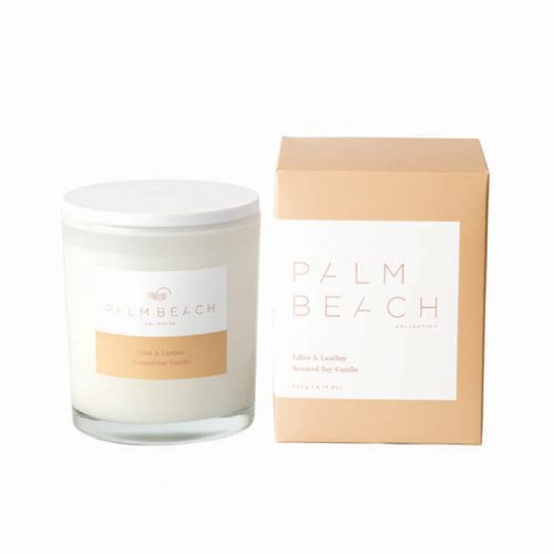 Palm Beach Lilies & Leather Candle at Flower Gallery Florist on Waiheke Island