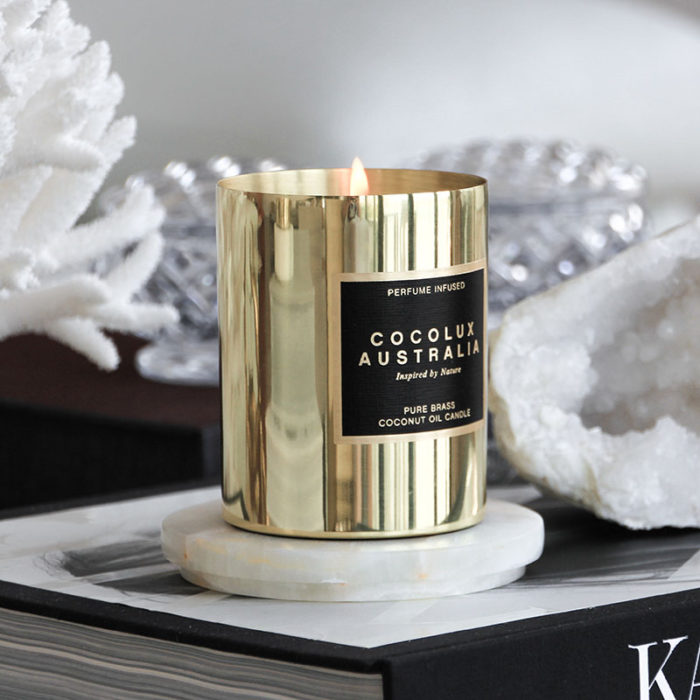Cocolux Lifestyle Brass Candle